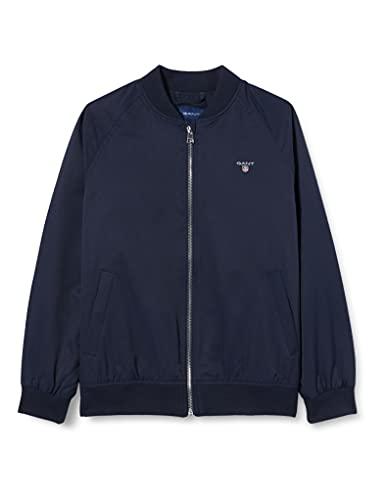 GANT Jacket D1. Chaqueta Ribbed, Azul noche, 176 cm para Niños