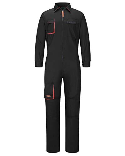 Pantalones con Peto de Trabajo para Hombre, Ropa de Trabajo Mono de Trabajo para Mecánicos, para jardín y Garaje, para Mantener Limpio
