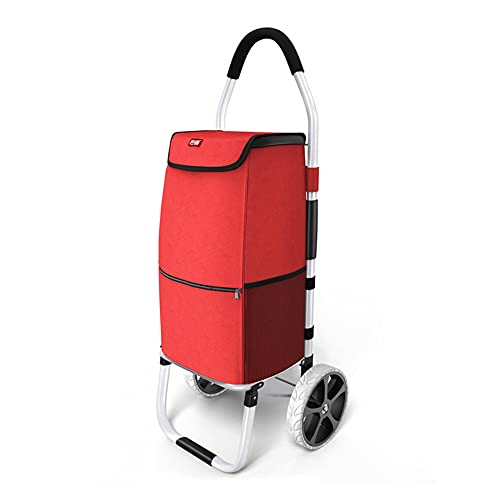 HUDEMR Carrito de compras plegable Carro de compras extraíble impermeable bolsa de lona portátil para ir de compras