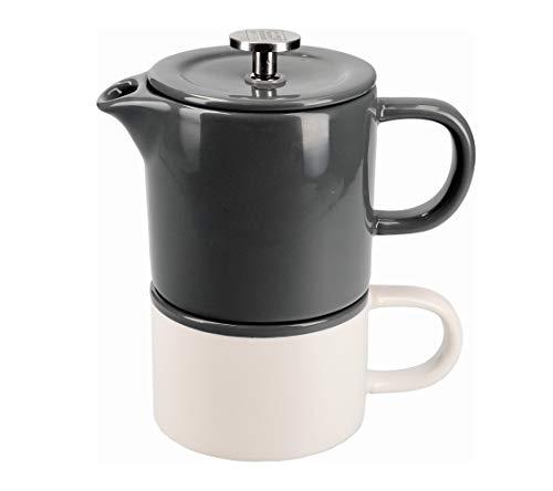 La Cafetière Barcelona Kaffeebecher, Keramik, klein cool grey