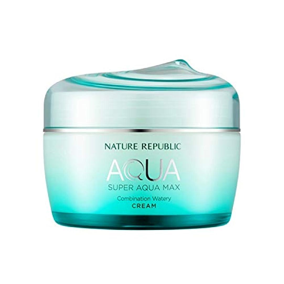 リーズ国旗増幅ネイチャーリパブリック(Nature Republic)スーパーアクアマックスコンビネーション水分クリーム [複合肌用] 80ml / Super Aqua-Max Combination Moisture Cream (Combination) 80ml :: 韓国コスメ [並行輸入品]