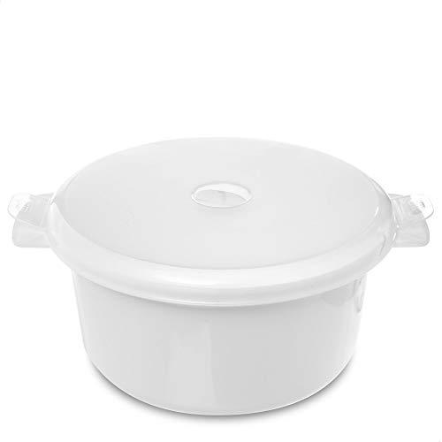 Kerafactum Vajilla de microondas con tapa para microondas, plato térmico redondo para microondas, cuenco con tapa hermética, recipiente para microondas con tapa