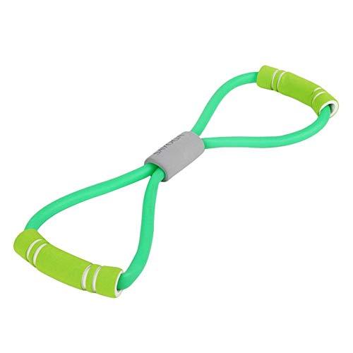 expansor de pecho durable cuerda expansor de pecho diseño delicado 8 forma expansor entrenamiento gimnasio ejercicio (color aleatorio)