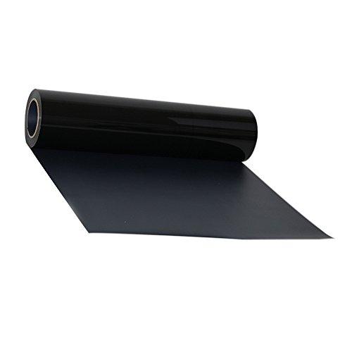 Transfer de vinilo para textiles, de Hoho, con transferencia de calor, camisetas, para manualidades, 50 x 50cm 30CMX50CM negro