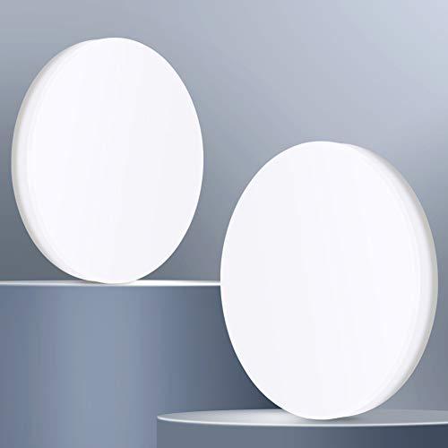OOWOLF LED Deckenleuchte,[2 Stück] LED Deckenlampe 2 pcs 22W 1900lm 5500K neutralweiß, für Schlafzimmer Wohnzimmer Küche Bad Balkon[Energieklasse A++]