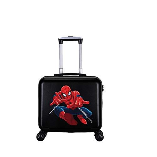 LLRDIAN Spider-Man for niños Maleta Trolley Maleta al Aire Libre bebé de Dibujos Animados Maleta niño embarque Hombres y Mujeres (Color : #7, Size : 41×22×41cm)