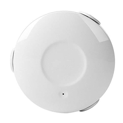 Asixxsix Sensor de Fugas de Agua WiFi, Detector de Fugas de Agua de monitoreo de 24 Horas Alimentado por batería, hogar para Fugas de Agua