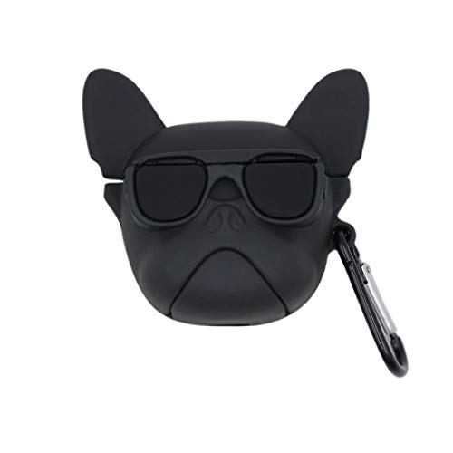 ZHYLIN Airpods Pro Case Mode Zonnebril Hond Puppy Case, Zachte Siliconen Fall Proof Cover Voor Aripods Pro(2019) Case, Airpods Accessoires, Paar Gift, airpods pro, A