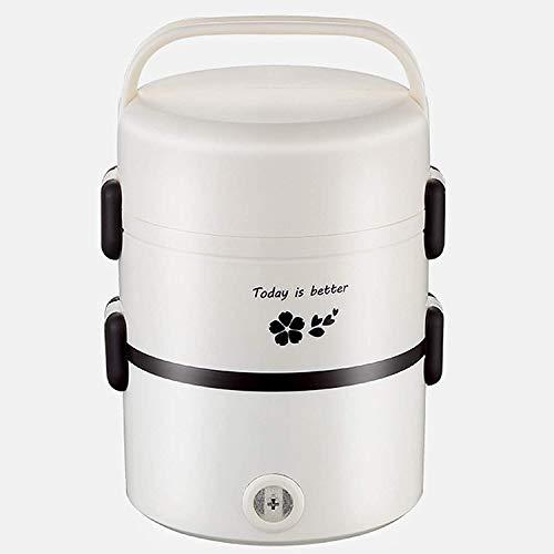 JILIGUALA Elektro-Lunch Box, Use300w 2.0L, dreischichtigen Verpackung, Lebensmittel-Heizungs-Wärmer, Edelstahl, Klein und tragbar, Büro Schule und zu Hause