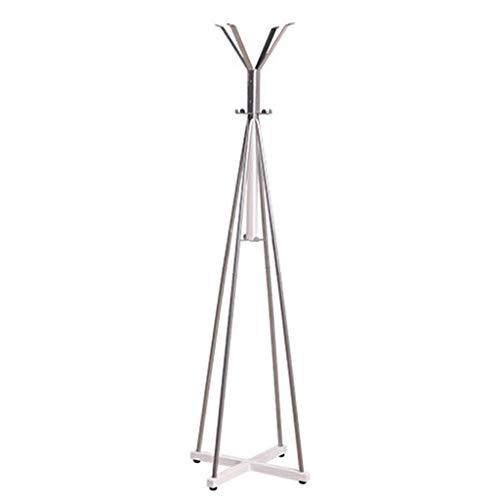 Hangers Coat Hanger Floor Bedroom Solid Wood Hangers Moderne Minimalistische Eenvoudige Kleding Rack Mode Ideeën Grootte -52x52x180cm kapstok (Kleur: Zwart)