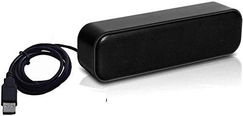 USB Computer Speakers,HONKYOB Mini Soundbar Speaker USB Power Computer,Laptop Speaker Stereo Sound USB Powered Soundbar for Computer Tablets Desktop Laptop PC Checkout Counter