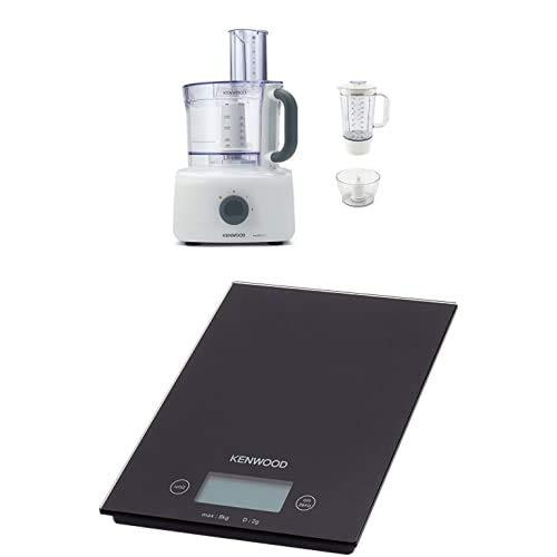Kenwood FDP643WH MultiPro Home Food Processor, Robot da Cucina con Frullatore, 1000 W, 3 Litri, Plastica, Bianco+DS400 Bilancia Elettronica da Cucina