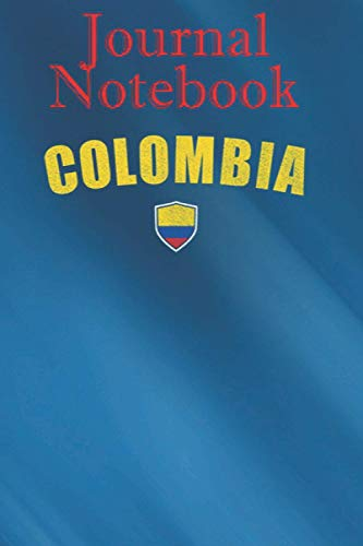 Composition, Journal Notebook: Colombia Football Soccer Flag - Camiseta Futbol 6