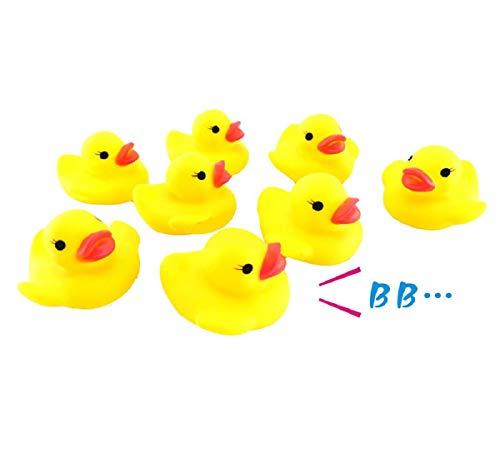 Koojawind 10 StÜCk Baby Bad Quetschen Gummispielzeug, Baby Badewanne Quetschen Anruf Gummiente Spielzeug, Baby Bad Dusche Geburtstag GefäLligkeiten, Kinder Jungen MäDchen