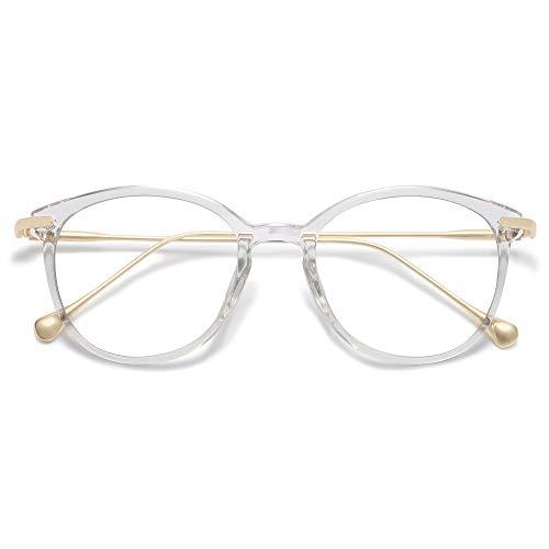 SOJOS Classic Round Blue Light Blocking Glasses Eyewear TR90 Frame...