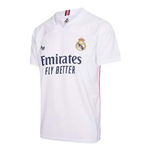 Morefootballs - Offizielles Real Madrid Heimtrikot Herren - 2020/2021 - Größe: Large (L) - Real Madrid Kurzarm Shirt - Trikot für Fussbal Training