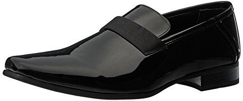 Calvin Klein Men's Bernard Loafer, Black Patent, 9.5 Medium US