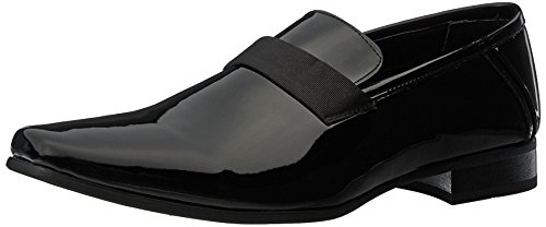 Calvin Klein Men's Bernard Loafer Tuxedo, Black Patent, 16 W US