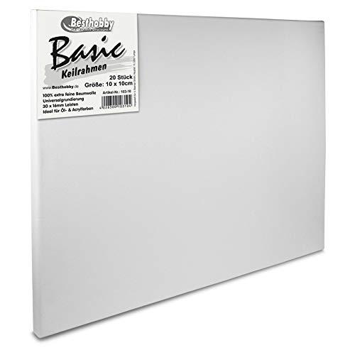 Keilrahmen -Basic- 50x 70cm (5 Stück) Leinwand Rahmen bespannt aus100% Baumwolle