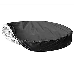 Uing Cobertor De Invierno para Piscina Redonda De 360 Cm De Diámetro, Tela Oxford 210D,Cobertor Invierno para Piscina Desmontable Redonda,Cubierta De Piscina Charming