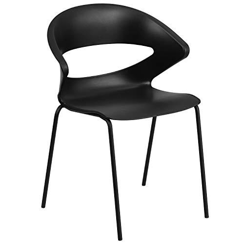 Flash Furniture HERCULES Series 440 lb. Capacity Black Stack Chair