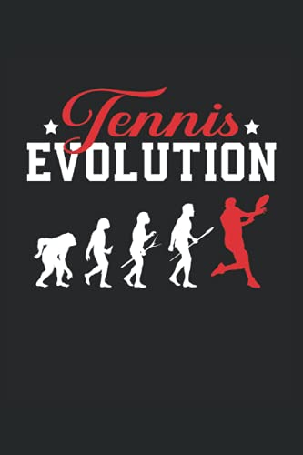 Evolución del tenis: Cuaderno de rayas cuaderno de escritura diario libro de tareas libro de cuentos (15,24 x 22,86 cm; ca. A5) 120 páginas. Para ... tenis amante del tenis aficionado al tenis.
