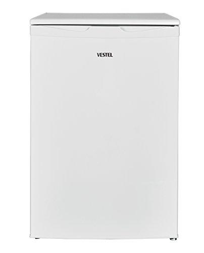 Vestel KS 140 Kühlschrank/A++/105 L Kühlteil und 12 Gefrierteil/Weiß/mit Gefrierfach/140 kWh/Jahr/Türanschlag wechselbar/höhenverstellbare Füße