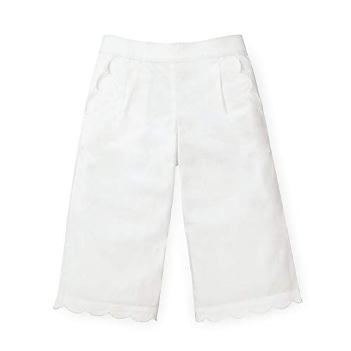Hope & Henry Girls' Wide Leg Cropped Pants with Scallop Details