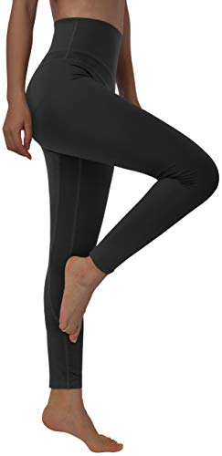 Fulbelle Black Leggings for Women, Casual Yoga Athletic Workout Pants High Rise Ultra Soft Lightweight Capris Fitness Exercise Comfy Trousers Solid Fall Clothes Outfits XX-Large