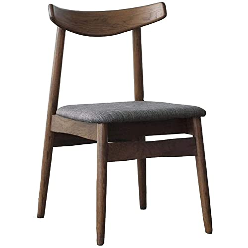 Silla de comedor de madera maciza nórdica de hierro forjado moderno minimalista restaurante respaldo hogar escritorio silla computadora ocio silla