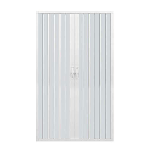 Porta doccia 120 CM in PVC mod. Vergine con apertura centrale Bianco Pastello