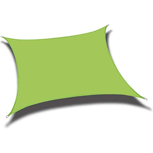 Toldo rectangular para patio, jardín, esquinas reforzadas, bordes y tela permeable (tamaño: 4 x 4 m, color: verde)