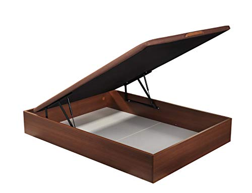 ROYAL SLEEP Canapé Abatible (150x190) de Gran Capacidad, Tapa 3D Transpirable, Color Cerezo Montaje y Retirada de Usado Incluido