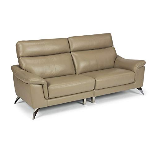 """Home Styles homestyles by Flexsteel Moderno Leather Upholstered Sofa, W-78"""", D-35"""", H-36 ½"""", Beige -  homestyles® by Flexsteel®, 5230-60"""