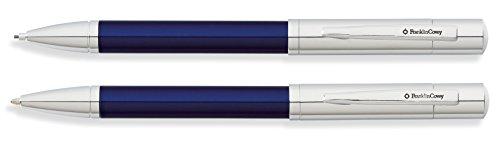 Franklin Covey Greenwich - Juego de bolígrafo y portaminas, color cromo y laca azul