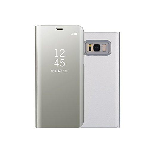 Aursen Custodia Samsung S8 Cover a Specchio Samsung Galaxy S8 Ideale per porteggere Telefono - Argento