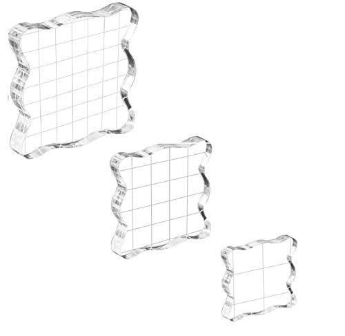 Stempelblock Set, Stempelblock Acrylblock, Acryl StempelBlock, DIY Acryl Stempel-Block für Scrapbook Fotoalbum DIY Handwerk Ornamente
