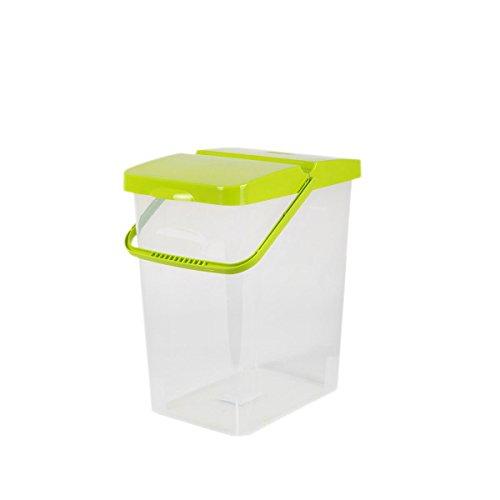 10 L Behälter Waschpulver Futterbehälter Unibox Deckel Aufbewahrungsbox hellgrün