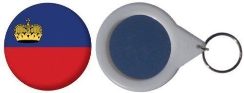 MadAboutFlags Spiegel Schlüsselbund Flagge Fahne Liechtenstein - 58mm