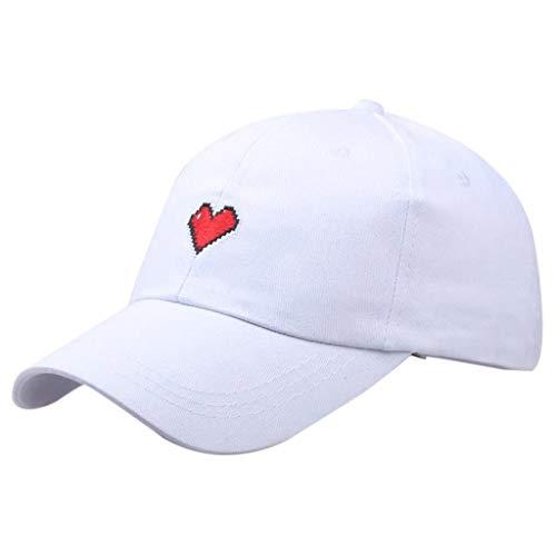 HENGTONGTONGXUN Sombrero de Las señoras Ajustable Gorra de béisbol Unisex del Amor del Verano al Aire Libre Parasol Hombres de Las Mujeres (Color : WH)