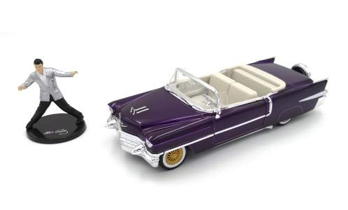 Cadillac Eldorado Convertible, metallic-dunkelviolett, Elvis Presley, 1956, Modellauto, Fertigmodell, Jada 1:24