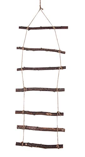 Rayher 65282505 - Escalera de madera para colgar, 96 x 30 x 2 cm, color natural