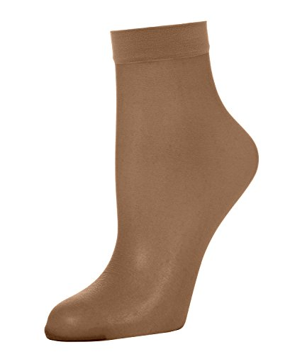 Wolford Damen 40205 Socken, Frauen Soeckchen,Struempfe,weich,komfortabel,transparent.4004 caramel,Small (S)