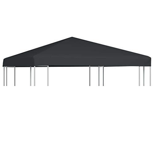 Sunlight - Cubierta para cenador (310 g/m2, 3 x 3 m), color antracita