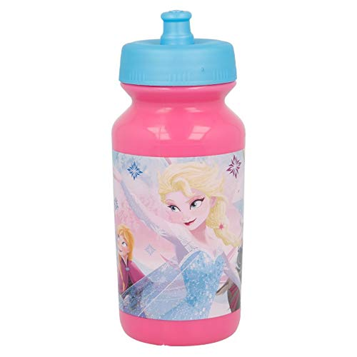 ALMACENESADAN 2037, Botella Sport Push-up Disney Frozen Iridescent Aqua; Capacidad 340 ml; Producto de plástico; no BPA