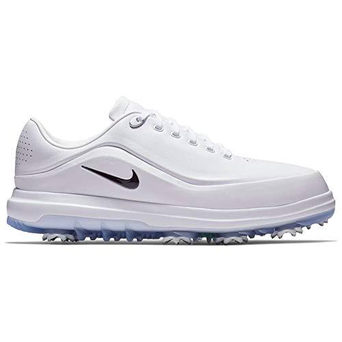 Nike Air Zoom Precision, Zapatillas de Golf para Hombre, Multicolor (White/Black/Volt/Metallic Silver 100), 40.5 EU