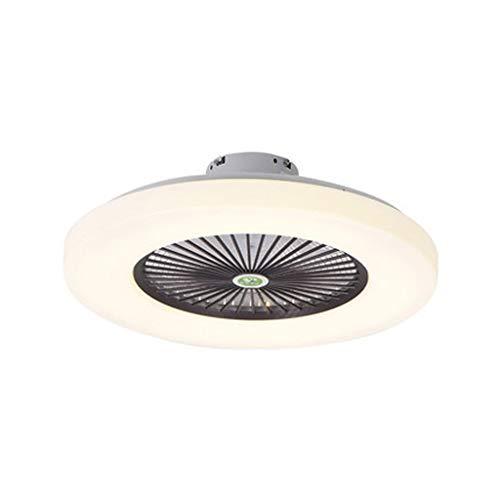 Grande Ventilador De Luz De Techo LED Moderno Nórdico Lámpara De Techo Ventilador Invisible Ultradelgado 36W Araña De Ventilador Velocidad Del Viento Ajustable Dormitorio Sala Iluminación (Marron)