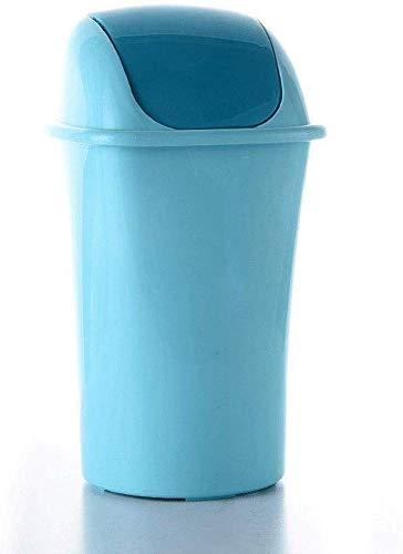 WYJW 12 liter plastic schommel vuilnisbak, prullenbak met deksel deksel, prullenbak keuken met deksel (kleur: paars)