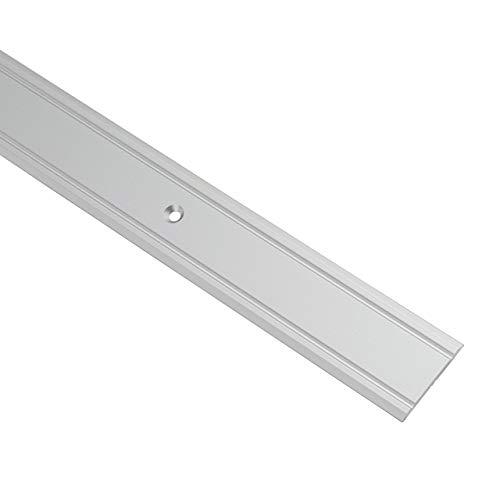Gedotec Übergangsprofil Aluminium Übergangsschiene gelocht Bodenprofil zum Schrauben - SUPER-FLACH | Breite 30 mm | Alu Silber eloxiert | 200 cm | 1 Stück - Ausgleichsprofil für Vinyl - Laminat UVM.