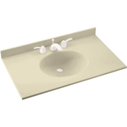"Swan VT02231.037 Ellipse Solid Surface Single-Bowl Vanity Top, 31"" L x 22"" H x 7.25"" H"